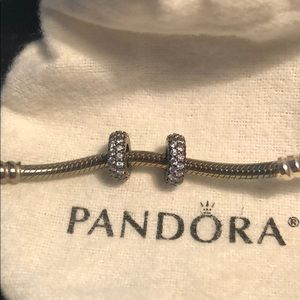 Pandora Sparkly Spacers